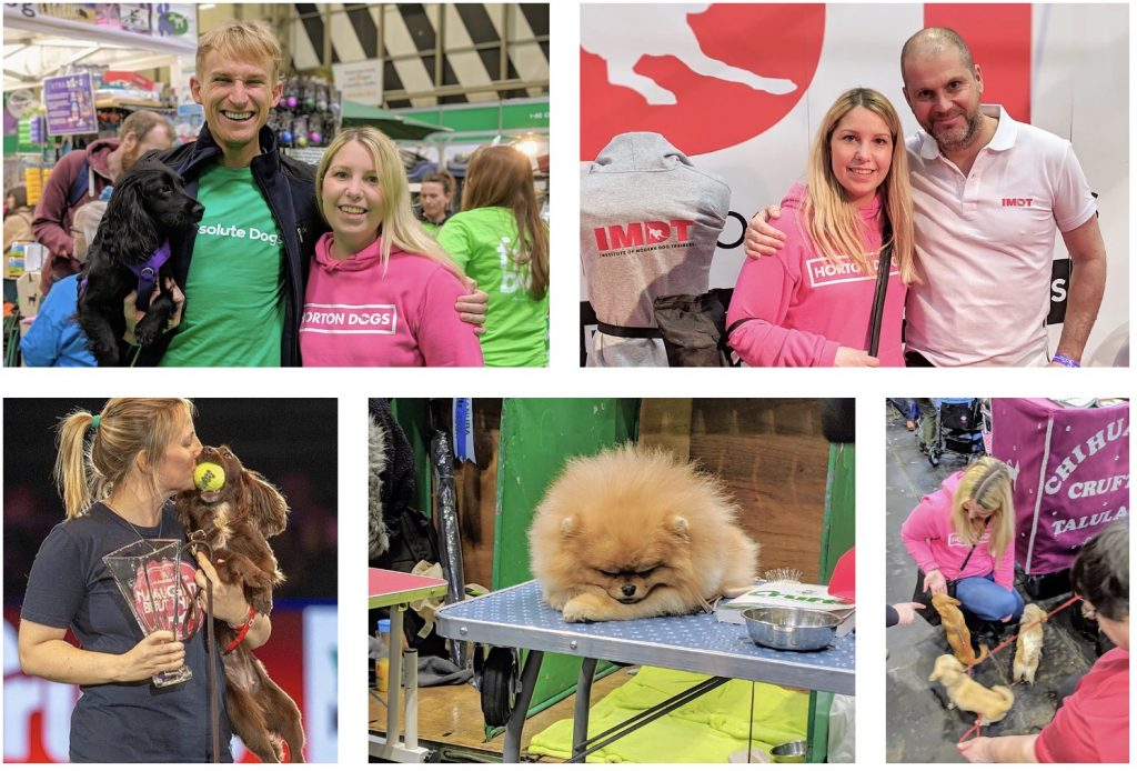 Cathy at Crufts 2019 meeting Tom & Lauren and Steve Mann IMDT